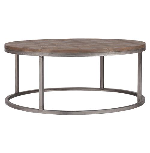 Colby Modern Industrial Loft Reclaimed Wood Coffee Table | Kathy Kuo Home