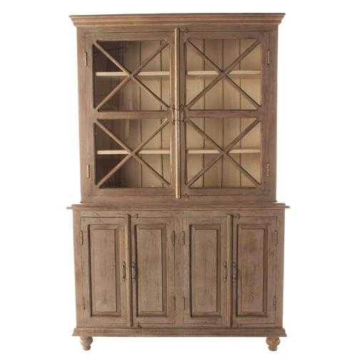 French Country Plantation 2 Door Hutch Cabinet- Small | Kathy Kuo Home