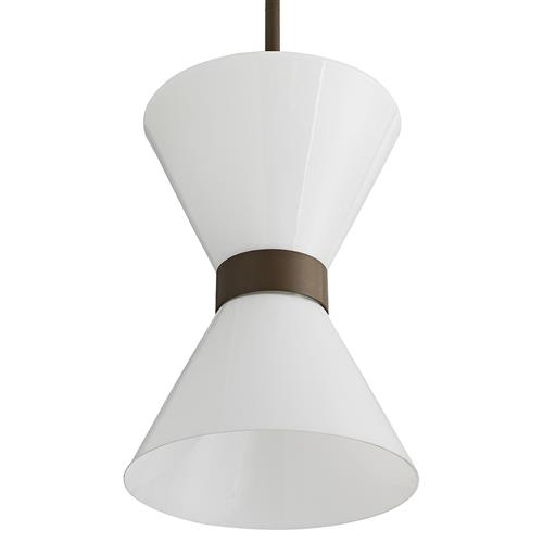 Arteriors Richard Modern Opal Hourglass Drop Outdoor Ceiling Pendant | Kathy Kuo Home