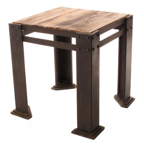 Rigger's Reclaimed Teak Wood Chunky Leg Side Table | Kathy Kuo Home