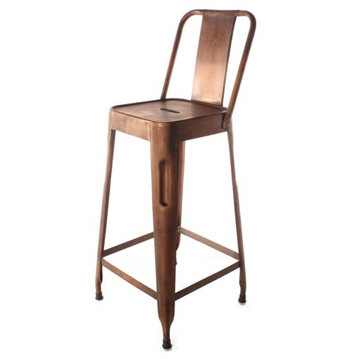 Ironworks Industrial Loft Aged Copper Counter Stool With