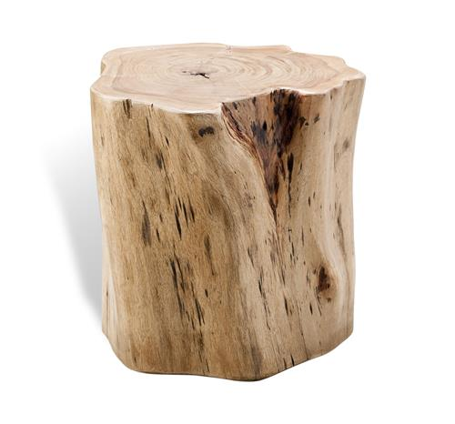 Buckley Forest Rustic Wood Stump Stool | Kathy Kuo Home