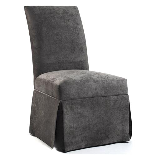 Raquel Hollywood Regency Gray Velvet Tufted Dining Chair | Kathy Kuo Home