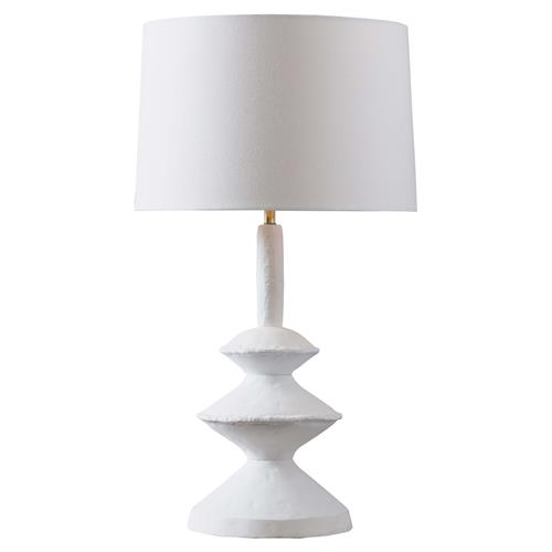 Regina Andrew Hope Modern Classic White Shade Aluminum Table Lamp | Kathy Kuo Home