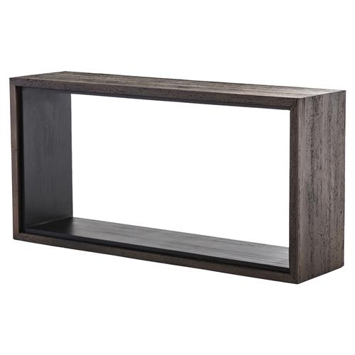Charlotte Modern Classic Dark Brown Open-Style Narrow Console Table | Kathy Kuo Home