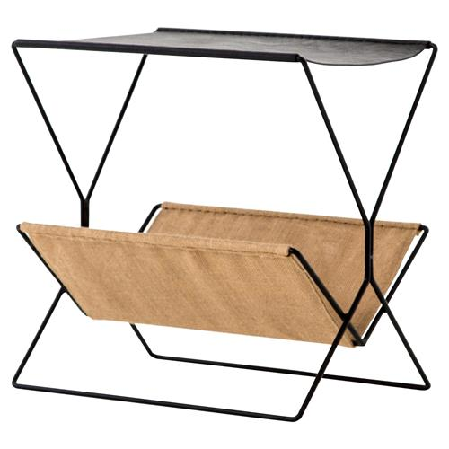 Molly Modern Classic Slim Black Fame Magazine Rack | Kathy Kuo Home