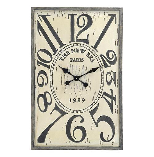 French Country Vintage Wood Hanging Wall Clock | Kathy Kuo Home
