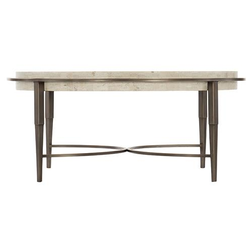 Belinda Modern Classic Honed Unsealed White Travertine Top Round Round Coffee Table 41 W 50 W Kathy Kuo Home
