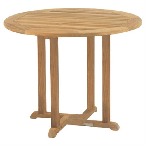 Kingsley Bate Essex Modern Classic Teak Outdoor Round Dining Table 36 Inch Kathy Kuo Home