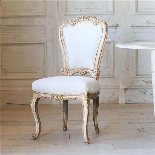 Eloquence French Country Style Set Of Four Vintage Dining Chairs