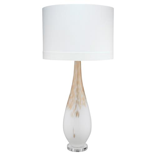 Maverick Modern Classic White Gold Ombre Glass Table Lamp | Kathy Kuo Home
