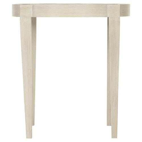 Alice Modern Classic Ivory Novelty Wood Side End Table | Kathy Kuo Home
