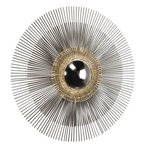 Marlo Hollywood Regency Gold Modern Convex Sunburst Mirror | Kathy Kuo Home
