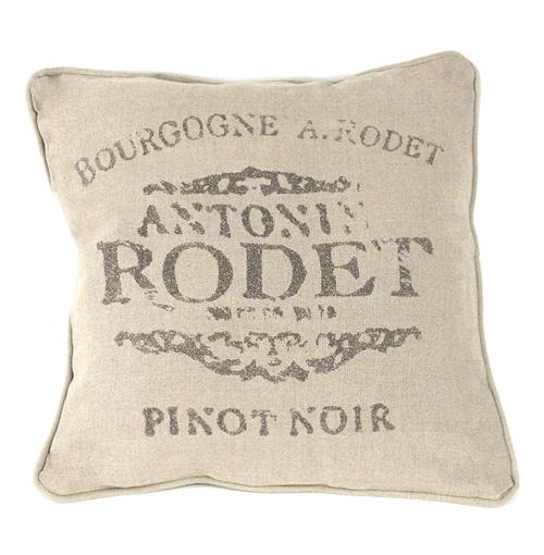 French Country Farm Stand Pinot Noir Throw Pillow - 18x18 | Kathy Kuo Home