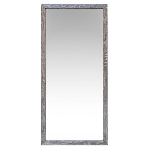 Oly Studio Tuck Rustic Lodge Silver Wood Grain Metal Wall Mirror | Kathy Kuo Home