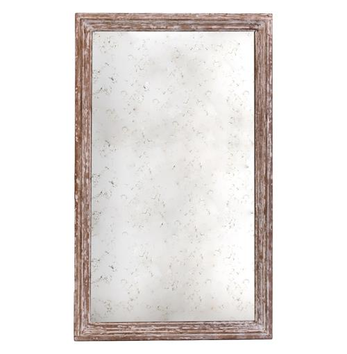 Marseilles French Farmhouse Antique Taupe Rectangle Mirror - 37 Inch | Kathy Kuo Home