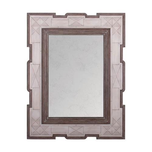 La Gare French Rustic Tribal Bone Antique Wood Mirror | Kathy Kuo Home