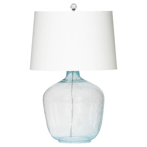 Christen Coastal Beach Azure Sea Glass Table Lamp | Kathy Kuo Home
