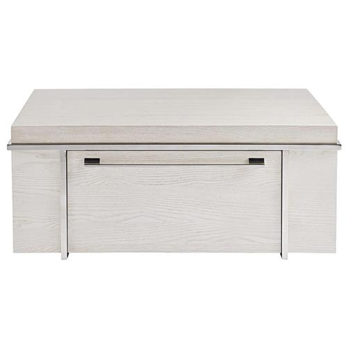Jason Modern Classic Ivory Wood Storage Rectangular Drawer Coffee Table | Kathy Kuo Home