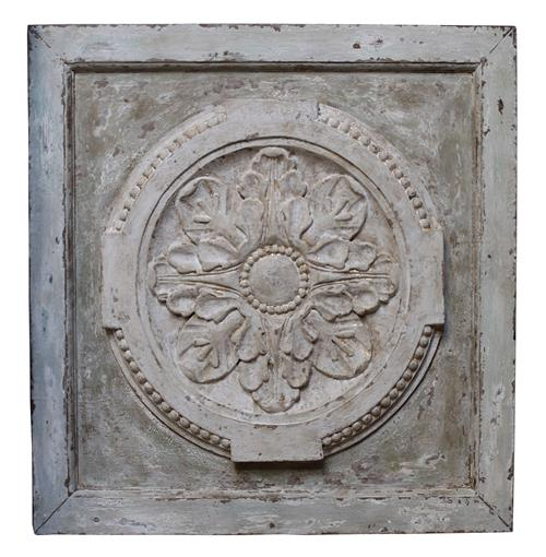 Athenia Greek Distressed French Country Vintage Carved Wood Panel | Kathy Kuo Home