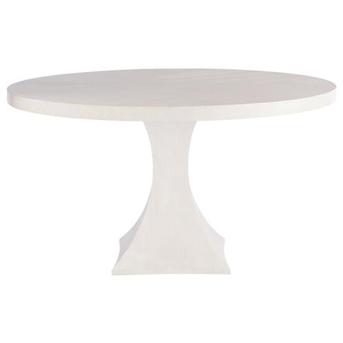 Mason Modern Classic White Wood Round Dining Table 54 W 51 D 60 D Kathy Kuo Home