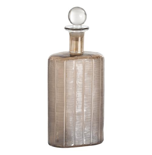 Conde Smoke Luster Luxe Etched Glass Bottle Decanter | Kathy Kuo Home