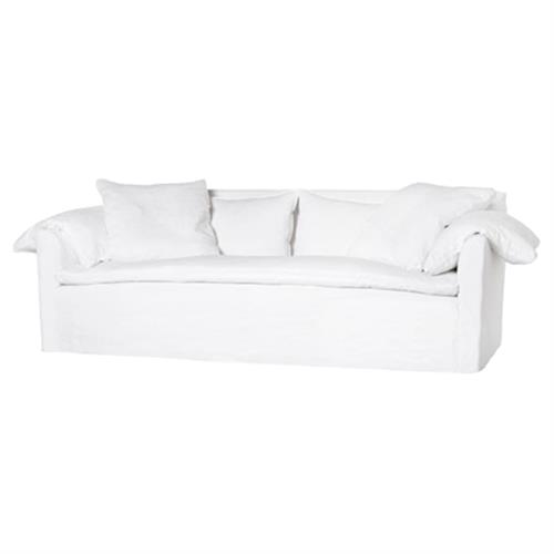 Phenomenal Cisco Brothers Donato Modern Classic Logan White Linen Slipcovered Sofa 78 Inch Alphanode Cool Chair Designs And Ideas Alphanodeonline
