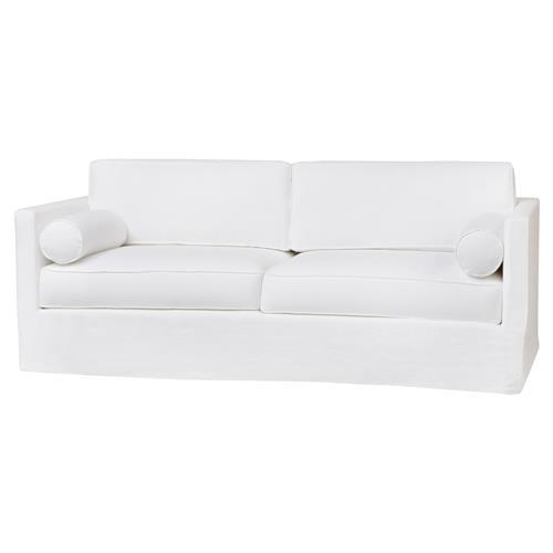 Cisco Brothers Vista Logan White Linen Slipcovered Sofa - 84 inch