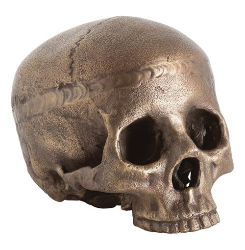 Casper Aluminum Decorative Human Skull Sculpture