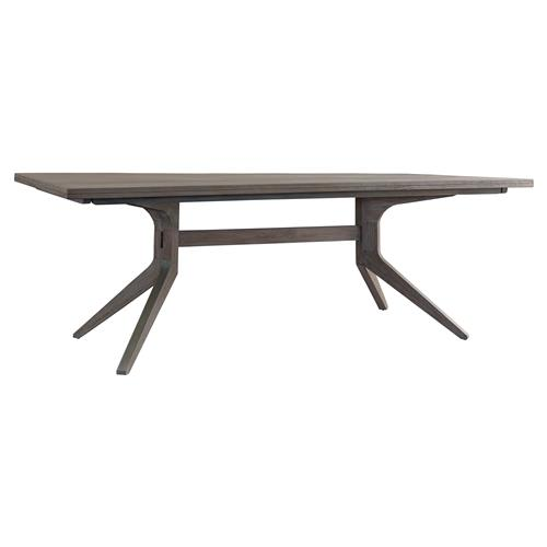 Priscilla Mid Century Modern Driftwood Grey Teak Dining Table | Kathy Kuo Home