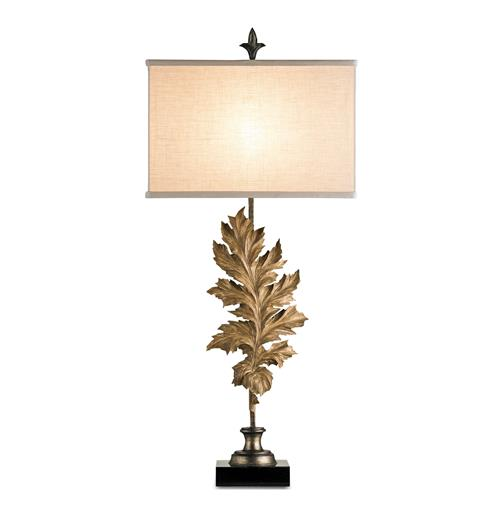 Autumn Antique Bronze Leaf Tall Table Lamp | Kathy Kuo Home