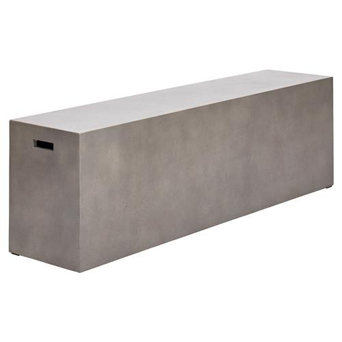 Roma Modern Classic Grey Concrete Outdoor Bench | Kathy Kuo Home