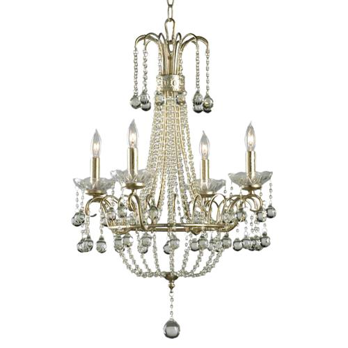 Genevieve 4 Light Crystal Ball Mini Chandelier | Kathy Kuo Home
