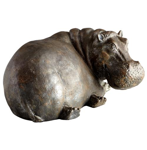Ms. Helen Sitting Hippo Sculpture | Kathy Kuo Home