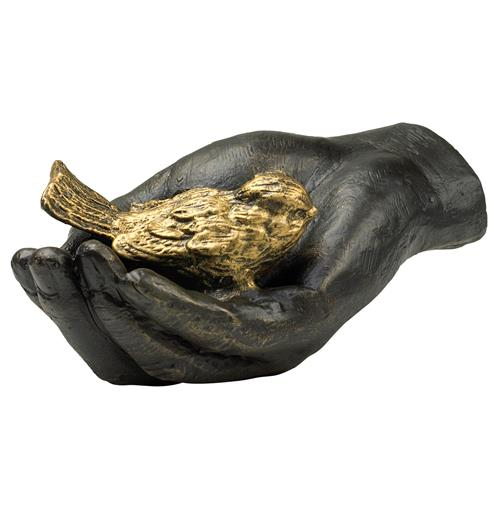 Antique Gold Bird in Bronze Hand Iron Sculpture | Kathy Kuo Home