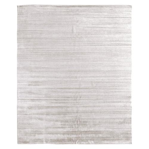 Exquisite Rugs Sanctuary Modern Classic Ivory Bamboo Silk Rug - 6'x9' | Kathy Kuo Home