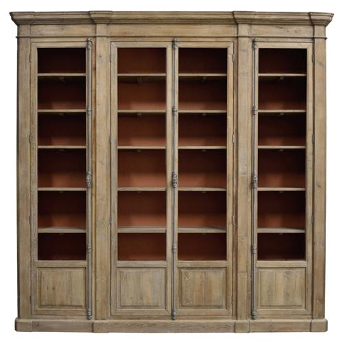 Daren French Country Brown Reclaimed Wood Bookcase | Kathy Kuo Home