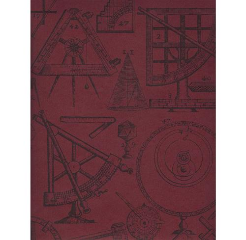 Industrial Scientific Newton Wallpaper - Red - 2 Rolls | Kathy Kuo Home