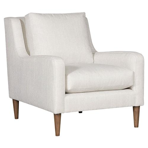Vanguard Josie Modern Classic White Upholstered Occasional Arm Chair | Kathy Kuo Home