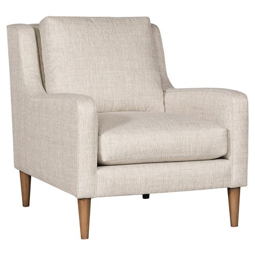 Vanguard Josie Modern Classic Beige Upholstered Arm Chair | Kathy Kuo Home