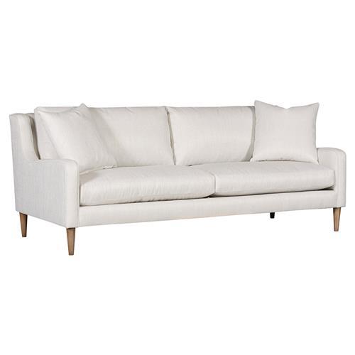 Vanguard Josie Modern Classic White Upholstered 2 Seater Sofa