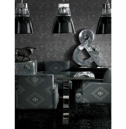 Math Science Equations Wallpaper - Charcoal - 2 Rolls | Kathy Kuo Home