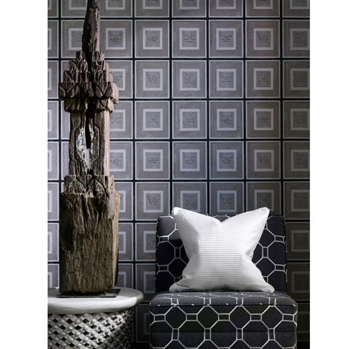 Biography Industrial Loft Wallpaper - Grey | Kathy Kuo Home