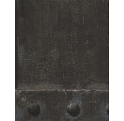 Isambard Industrial Iron Panel Wallpaper - Lead | Kathy Kuo Home