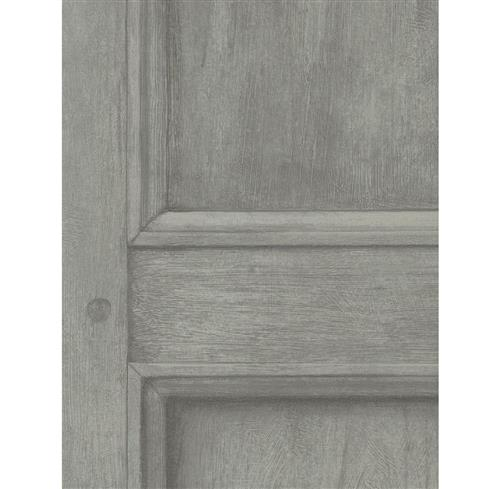 Traditional Aged Wood Panel Wallpaper - Grey | Kathy Kuo Home