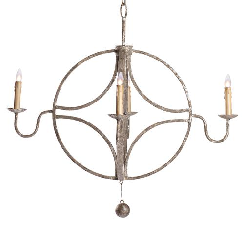 Winthrop French Country Interlocking Circle Rustic Chandelier | Kathy Kuo Home