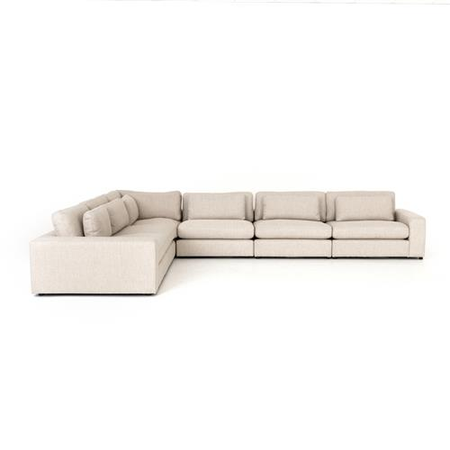 Andie Modern Classic Ivory 6 Piece Sectional Sofa
