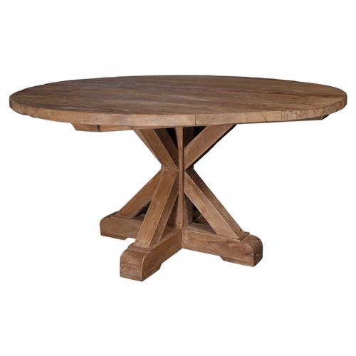 Nancy Rustic Brown Reclaimed Teak Wood, 72 Inch Round Dining Table Reclaimed Wood