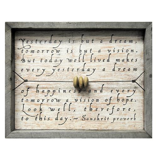 Yesterday Is But A Dream Reclaimed Wood Wall Art | Kathy Kuo Home