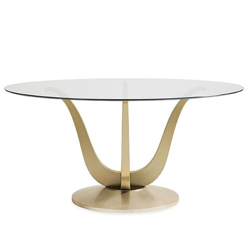 Caracole Rounding Up Regency Clear, Glass Table Top 60 Inch Round